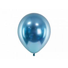 50 ballons bleu glossy