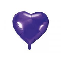 ballon hélium coeur violet
