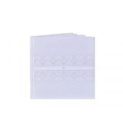 Livre d'or mariage ruban blanc