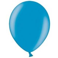 10 ballons 27 cm - turquoise métallisé