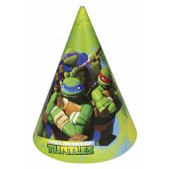Lot de 6 chapeaux anniversaire Tortues Ninja