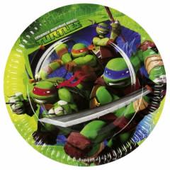 Lot de 8 assiettes Tortues Ninja 18 cm