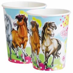 "Lot 8 gobelets anniversaire cheval ""Charming Horses"""