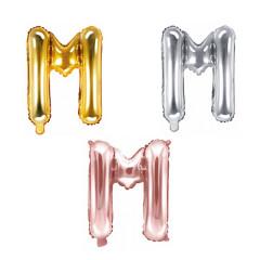 Ballon lettre M - 36cm - coloris au choix