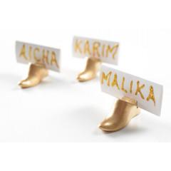 Marques-place babouche or à prix discount