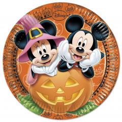 8 assiettes Ø 23 cm - Mickey Halloween