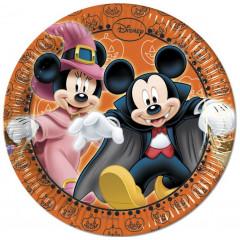 8 assiettes Ø 20 cm - Mickey Halloween