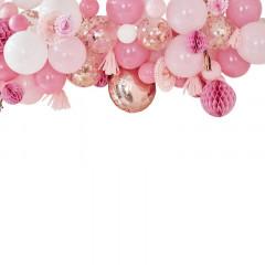 guirlande deco ballon rose