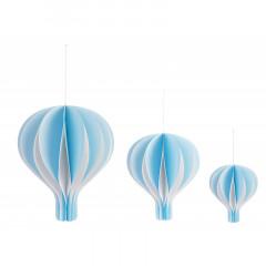 Montgolfière en papier bleu