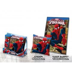 Coussin + plaid Spiderman
