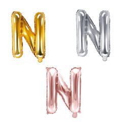 Ballon lettre N - 36cm - coloris au choix