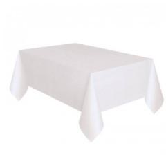 Nappe blanche en tissu - 180 x 300cm
