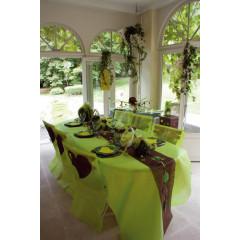 Nappe mariage vert anis éco 1.2 m x 10 m