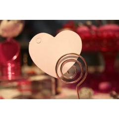 Etiquette coeur blanc