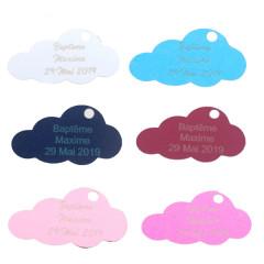 Étiquette personnalisée nuage