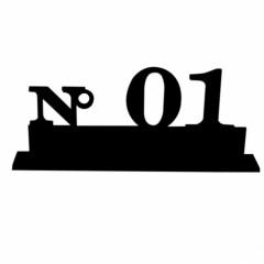 Marque-tables numero de 1 à 10 noir ( délai 10 jours )