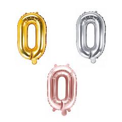 Ballon lettre O - 36cm - coloris au choix