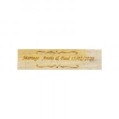 Pancarte mariage personnalisé en bois