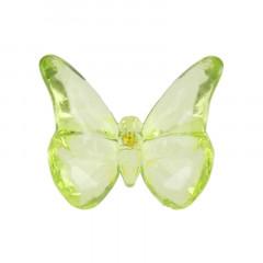 10 Perles papillons verts