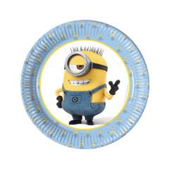 8 assiettes anniversaire Minions
