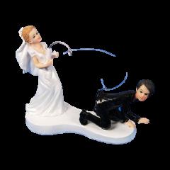 Couple de mariés - à la pêche au marié