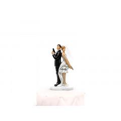 Sujet mariage couple agents secrets - 14,5 cm