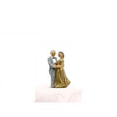 Sujet mariage noces d'or - 12 cm