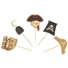 pics en bois décor pirate