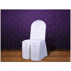 Housse de chaise en tissu - blanc