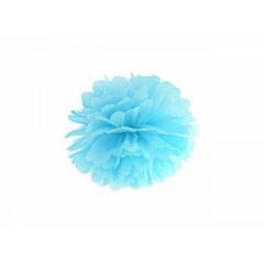 Pompon-papier-de-soie-bleu