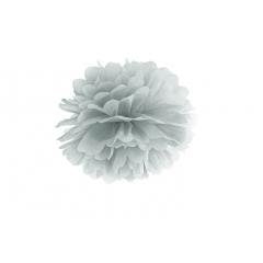 Pompon de papier argent- 25 cm