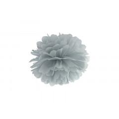 Pompon de papier buvard gris - 25 cm