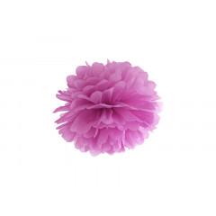 Pompon de papier buvard prune - 25 cm