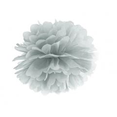 Pompon de papier argent - 35 cm