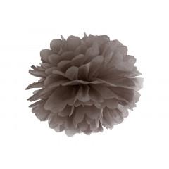 Pompon de papier buvard marron - 35 cm