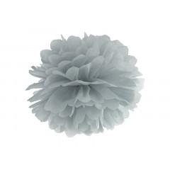 Pompon de papier buvard gris - 35 cm