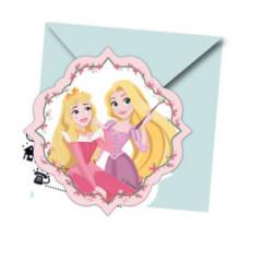6 invitations avec enveloppes princesses disney oser rever