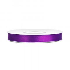 Ruban satin 6 mm - violet