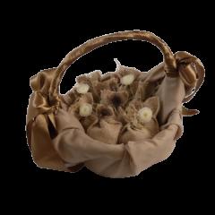 5 sacs en jute et cordon naturel
