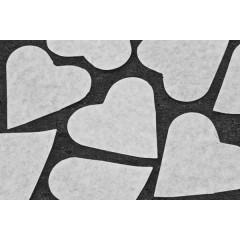 Sachet gros confettis Cœur Blanc