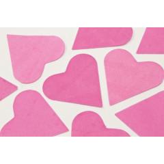 Sachet gros confettis Cœur Fushia