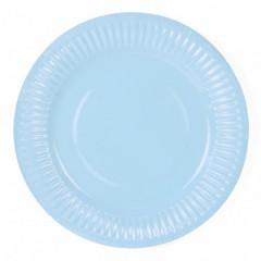 Assiettes en carton bleu