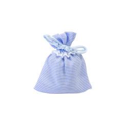 4 sachets à dragées à rayures bleues et blanches à prix discount