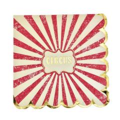 Serviette en papier cirque
