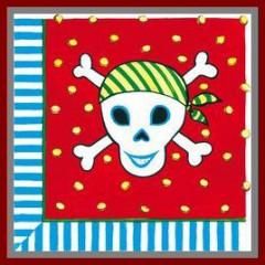 Serviettes Pirates - x12