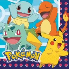 Serviettes anniversaire Pokemon x16 - 33 x 33 cm