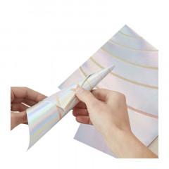 Serviettes licorne iridescente