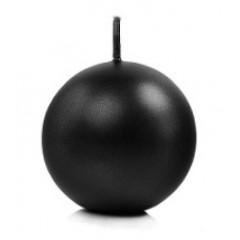 bougie ronde noire métallisée