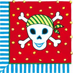12 serviettes pirate - 33 x 33 cm