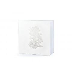 Livre d'or motif pivoines blanc 20.5 cm x 20.5 cm